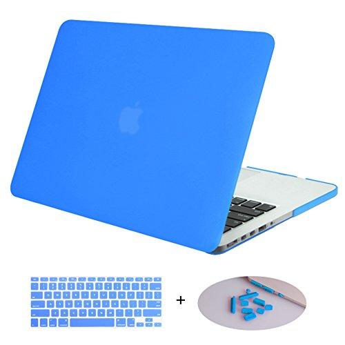 DWON MacBook Case Pro 13 Zoll mit Retina mit Tastaturabdeckung und Staubschutzstecker für Apple MacBook Pro 13 Zoll Sleeve Modell (A1502/A1425, Version 2015/2014/2013/Ende 2012) – Aqua Blue
