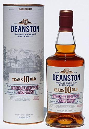 Deanston 10 Years, Bordeaux red Wine Cask finish, 0,7 L