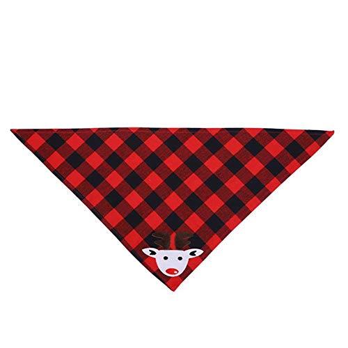 SHDJYR Universal Christmas Pet Triangle Bandana Adornos navideños Accesorios de Bufanda de Babero Triangular de Doble Cara para Gatos y Perros Tipo 2