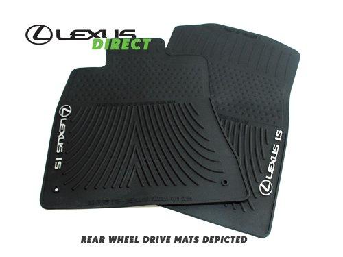 Lexus Genuine Parts PT908-5300W-02, Black OEM IS350, IS250 All Weather 2-Piece Floor Mats (AWD)
