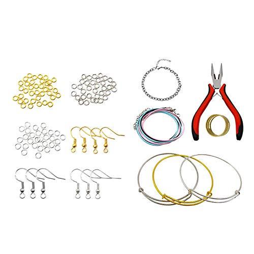 perfk Resultados de Fabricación de Joyas DIY Ganchos para Pendientes Pulseras Collar Accesorios
