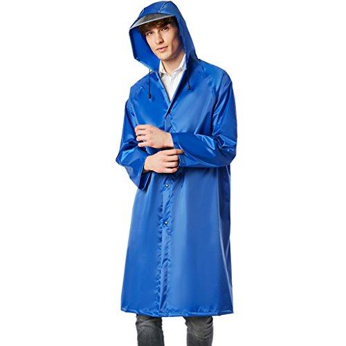 Volwassenen gevoerde lange regenjas mannen en vrouwen met dezelfde hak wind en regen dik warm geschikt voor outdoor-wandelen bergbeklimmen toerisme