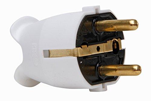 Kopp 175702000 Schutzkontaktstecker arktis-weiß, Artktisweiß