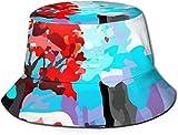 Sombreros de Cubo Transpirables con Parte Superior Plana Unisex Sombrero de Cubo de Paisley del Siglo XXI Sombrero de Pescador de Verano-Árbol de...