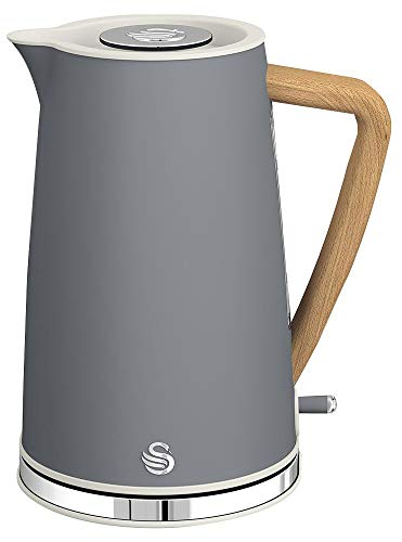 1.7L Nordic Style Cordless Kettle Grey, Appliance Type Kettle, Capacity 1.7l, Plug Type UK, Power Rating 3000W, Product Range Swan Nordic Kitchen Range, Colour Slate Grey, Electrical Consumer Goods/Ap