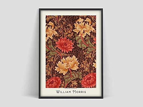 Póster de William Morris, patrón de flores, póster de flores, impresión artística, exposición de Winri Matisse, pintura en lienzo sin marco Q-19 60x90cm