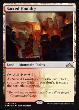 Magic The Gathering - Sacred Foundry (254/259) - Guilds of Ravnica