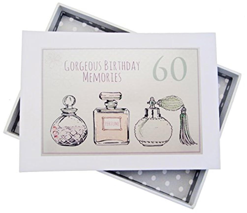 WHITE COTTON CARDS 60th Birthday, Mini Photo Album, Perfume Bottles, Wood, White, 12.5 x 17.5 x 2.5 cm
