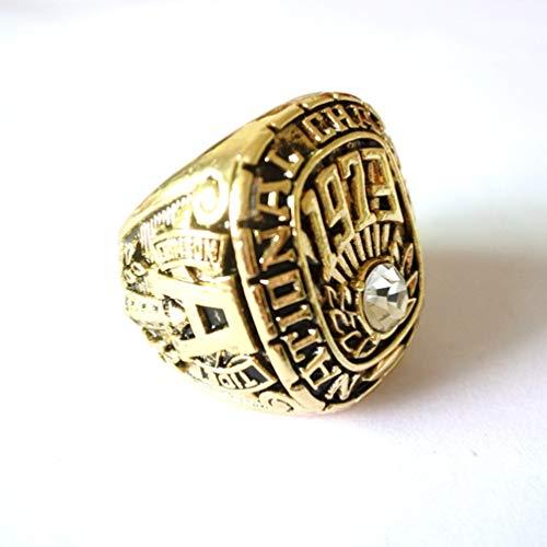 WANZIJING Meisterschaft-Ring für Männer, 1973 NCAA Alabama Red Tide-Team-Meisterschaft Ring Replica für Geschenkideen anzeigen Aufbewahrungs,Without Box,13