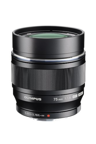 Olympus M.Zuiko Digital ED 75mm F1.8 Lens, for Micro Four Thirds Cameras (Black)