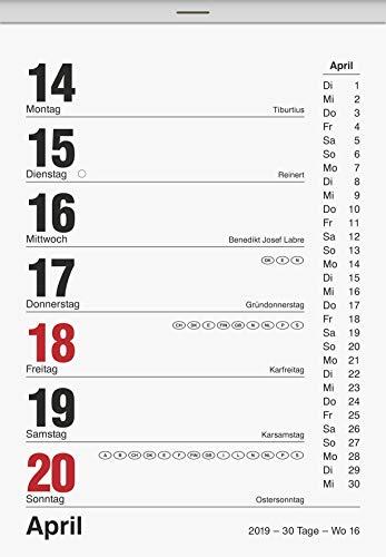 Brunnen Wochenabreißkalender 10,5x15cm Kalendarium 2013