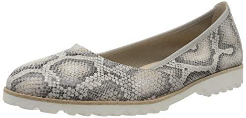 Gabor Shoes Damen Casual Geschlossene Ballerinas, Beige (Leinen 34), 43 EU