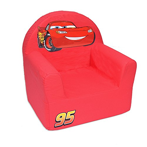 Cars Sessel Disney in Form Club Polyurethan, Stoff, rot, 41x37.5x29.5 cm