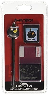 Angry Birds Stylus Essentials Set - 3PC: Black Bird (Nintendo 3DS/DS)
