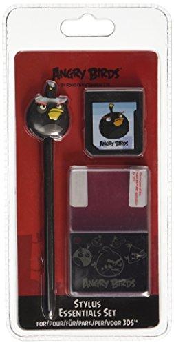 Angry Birds Stylus Essentials Set - 3PC : Black Bird Nintendo 3DS/DS [import anglais]