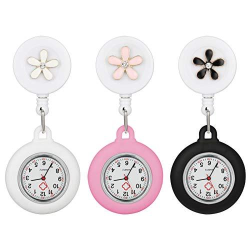 Smilcloud 3 Stücke Krankenschwester Uhr Taschenuhren Zeiger Krankenschwesteruhr für Mann und Frau, Krankenschwester, Arzt, Sanitäter, medizinischer Clip