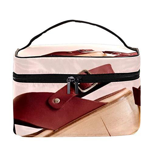 TIZORAX dames muffin platform sandalen cosmeticatasje reizen toiletartikelen geval grote make-up organizer box