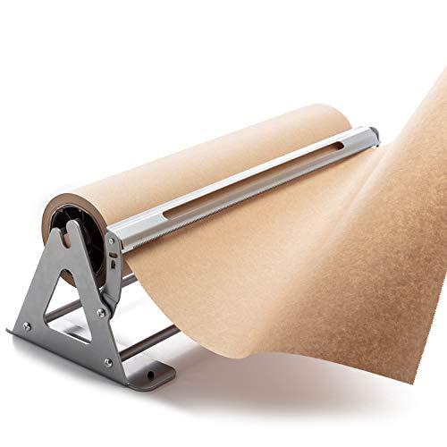 Butcher Paper Dispenser - 18 Inches Butcher Paper Cutter and Paper Roll Dispenser and Cutter - Kraft Paper Dispenser, Wrapping Paper Cutting Tool, Craft Paper Cutter