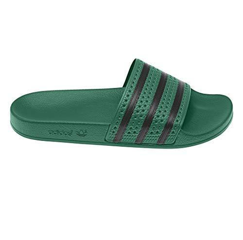 adidas Adilette Badelatschen (37 EU, grün/schwarz)