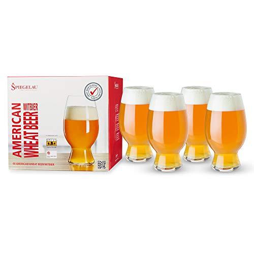 Spiegelau & Nachtmann, 4-teiliges Kraftbier-Glas-Set, Witbier, Kristallglas, 750 ml, 4991383, Craft Beer Glasses