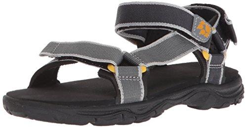 Jack Wolfskin Jungen Seven Seas 2 B Sport Sandalen, Grau (Burly Yellow Xt), 26 EU
