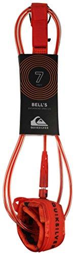 Quiksilver Bell's 7' - Correa para Tabla de Surf, Color Rojo