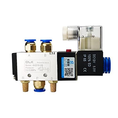 Distribuidor De JardíN,Grifos De Agua Distribuidor Válvula solenoide eléctrica neumática 5 vías...