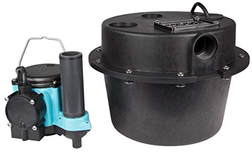 Little Giant WRSC-6 Compact Drainosaur Tank and Sump Pump Combination System, Black