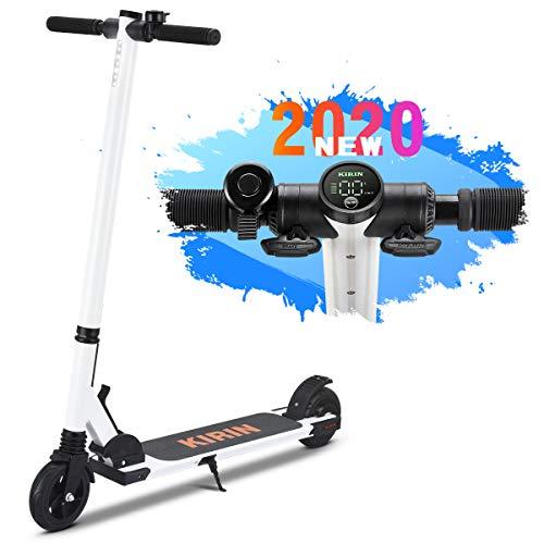 urbetter Kugoo ES01 Mini Monopattino Elettrico Scooter Pieghevole per Adulto, velocità Fino a 20 kmh, Scooter da 8 kg Super Leggero Adatto a Donna e Adolescente (B Bianco)