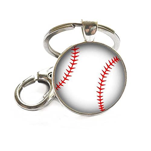 Llavero de béisbol, joyería de béisbol, joyería deportiva, afición, joyería de la mamá del béisbol, regalo del equipo de béisbol, amante del béisbol-JV306