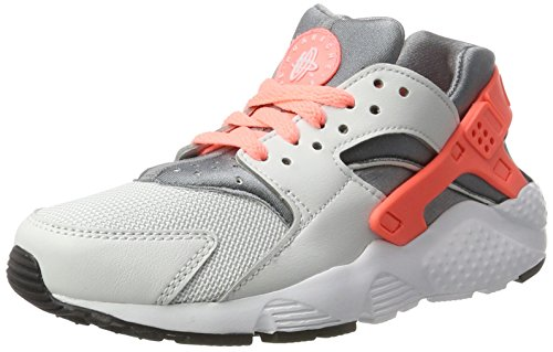 Nike Kinder und Jugendliche Huarache Run Gs Sneakers, Mehrfarbig (Pure Platinum/Lava Glow-Cool Grey-White), 37.5 EU