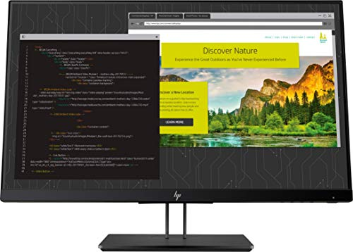 "HP Z24nf G2 - Monitor Profesional de 23.8"" FullHD (1920x1080, IPS LED, 16:9, 1 x VGA, 1 x HDMI 1.4, 1 x DisplayPort 1.2, 2 x USB 3.0, 60 Hz, Antireflejo, Low Blue light, Ajustable), Negro"