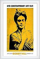 ポスター ボビー ヒル Kahlo 額装品 ウッドハイグレードフレーム(ホワイト)