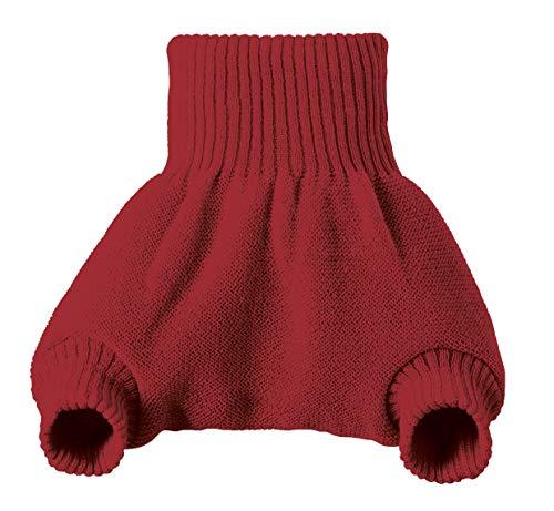 Culotte de protection bordeaux en laine Mérinos 2-3 ans - DISANA