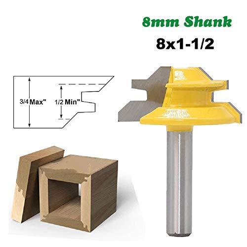 1PC 8Mm Shank 45 Graden Klein Slot Mitre Router Bit Mortise Tenon Knife 3/4