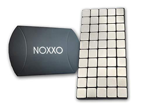 NOXXO Neodym Mini Magnetwürfel 3mm 50 oder 100 Stück inkl. Aufbewahrungs Box, für Kühlschrank Pinnwand Büro I 50 Magnete