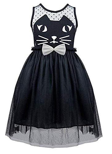 Little Girl Pageant Costume Cat Halloween Cosplay Witch Hat Holiday Party Dress