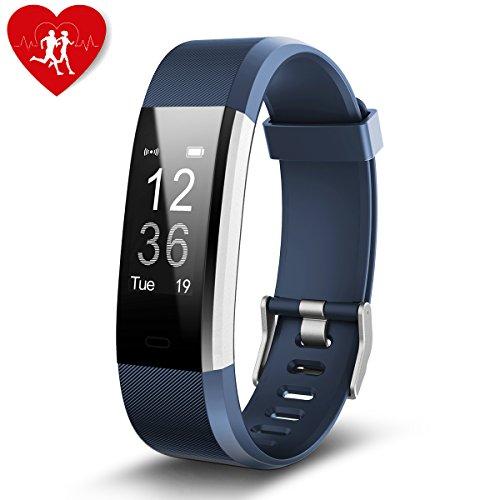 Orologio Fitness, Aokey Tracker Attività con Frequenza Cardiaca Impermeabile IP67 Collegato Contapassi Sonno Monitor Compatibile con Android Telefoni Cellulari e iPhone