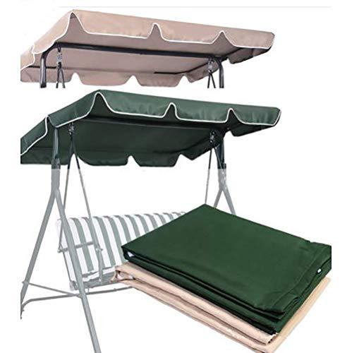 QEES, parasole impermeabile e copertura di ricambio per dondolo da giardino a 3 posti