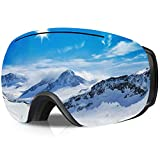 GANZTON Skibrille Ski Snowboard Brille OTG Brillenträger Schneebrille Doppel-Objektiv UV-Schutz...