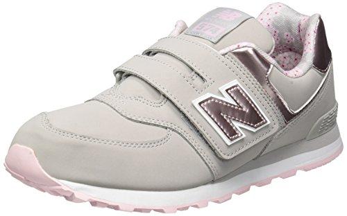 New Balance New Balance, Unisex-Kinder Sneaker, Grau (Grey/pink), 39 EU (6 UK)