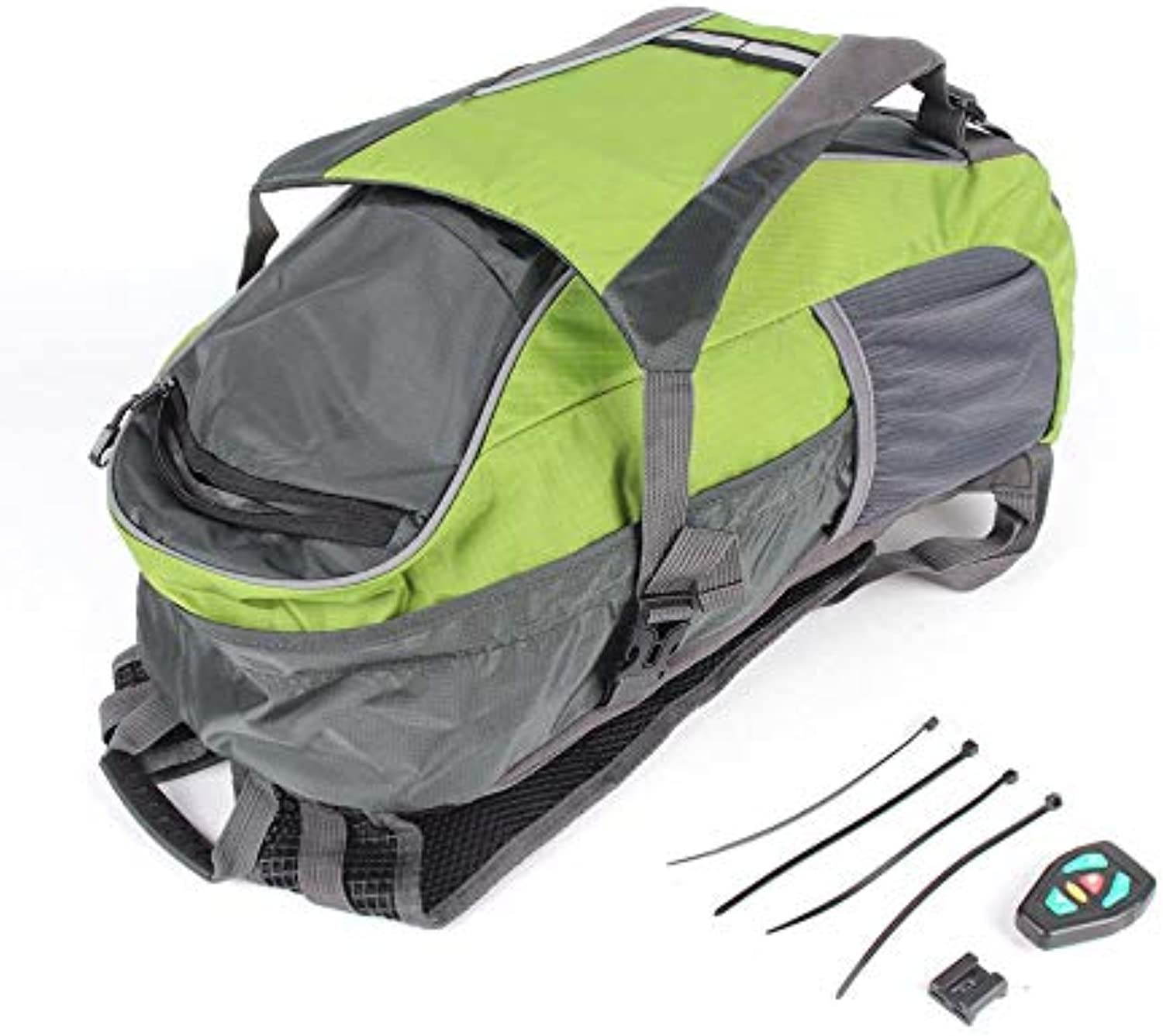 LED Turn Signal Light Reflective Vest Backpack Waist Pack Business Travel Laptop Bag Sport Outdoor Waterproof Night Cycling