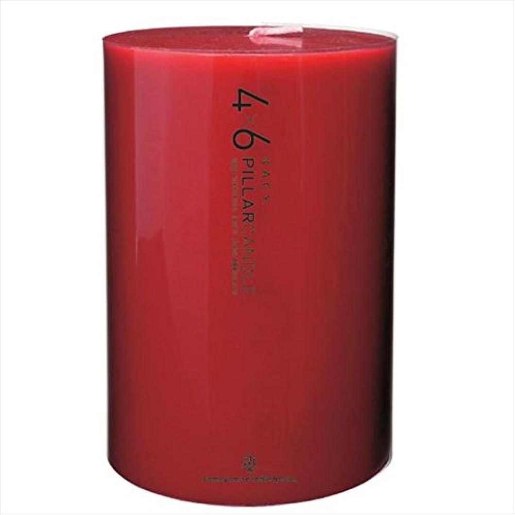 スイス人スキッパー変換するカメヤマキャンドル(kameyama candle) 4×6ピラーキャンドル 「 レッド 」