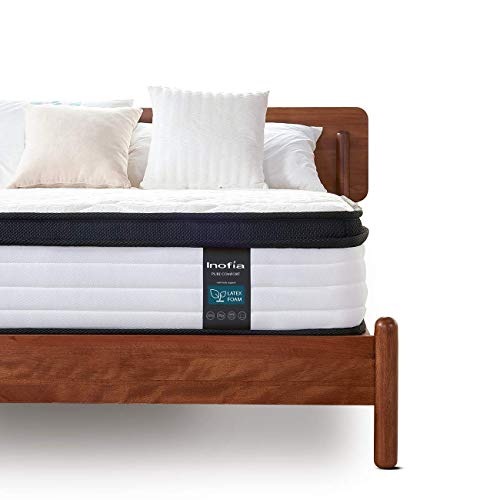 Inofia Double Latex Memory Foam Mattress with Spring,27CM LATEXCH Foam Mattress,Bi-density Latex Technology for Maintaining Superior Ventilation,Naturally Hypoallergenic,Risk-free100 Night Home Trial