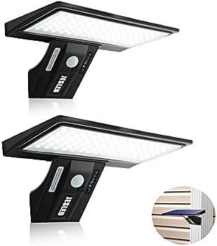 2-Pack Jesled 90 LED Solar Flood Lights Motion Sensor