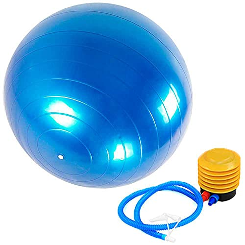 OcioDual Pelota Balon Gym Ball para Deporte Gimnasia Yoga Pilates Abdominales Azul 65 cm Blue for Fitness Core Exercise+Pump