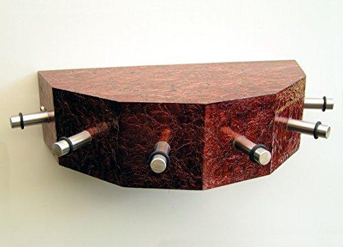 Porte-clés-cONSOLE, avec 6 crochets en acier, aspect aluminium rougeâtre
