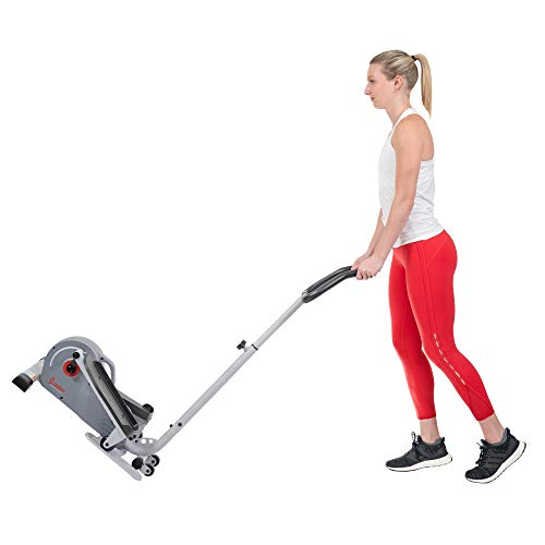 Product Image 10: Sunny Health & Fitness Magnetic Standing Elliptical with Handlebars – SF-E3988, Grey