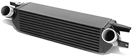 Black Bar & Plate Core Front Mount FMIC Bolt-on Aluminum Intercooler Replacement for Ford Mustang 2.3L Ecoboost 15-19