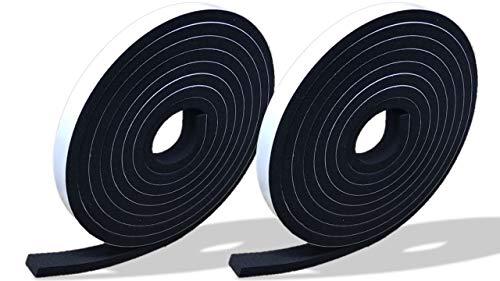 プランプ オリジナル 隙間テープ スキマッチ 黒 ブラック 厚 5 mm × 幅 10 mm × 長さ 2m 2 個入 日本製 ゴムスポンジ 防水 防音 すきま 窓 玄関 引き戸 隙間